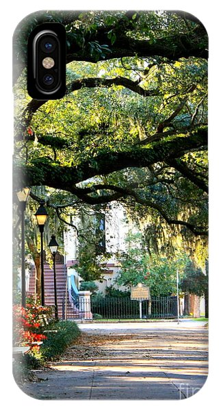 Savannah Park Sidewalk IPhone Case