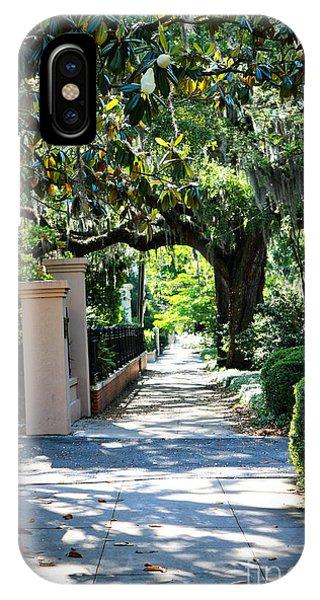 iPhone Case - Savannah Sidewalk With Magnolia Tree by Carol Groenen