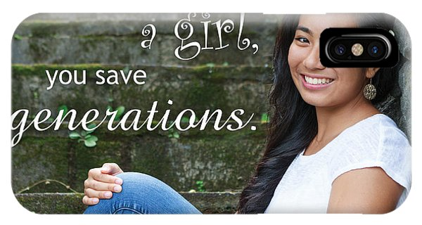 Save A Girl IPhone Case