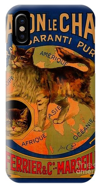 Savon Le Chat Antique French Poster IPhone Case