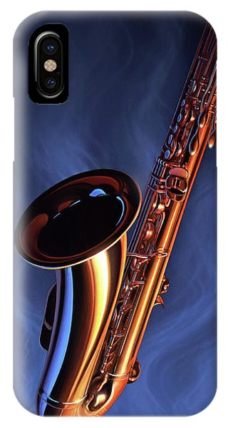 Saxophone iPhone X Case - Sax Appeal by Jerry LoFaro