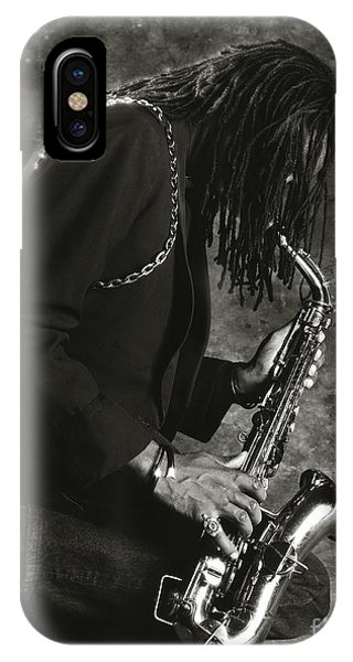 Sax Player 1 IPhone Case