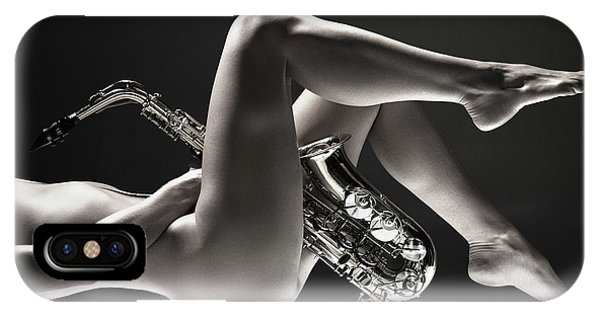 Saxilicious Bw IPhone Case