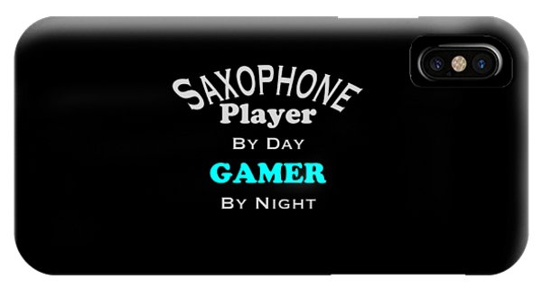 Saxophone Player By Day Gamer By Night 5623.02 IPhone Case