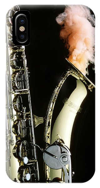 Saxophone With Smoke IPhone Case