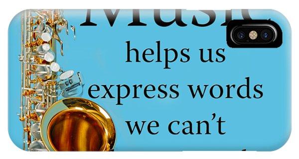 Saxophones Express Words IPhone Case