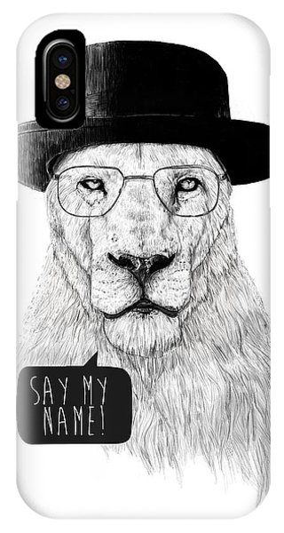 Black And White iPhone X Case - Say My Name by Balazs Solti