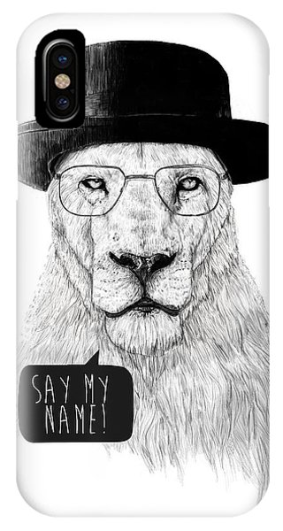 Lions iPhone Case - Say My Name by Balazs Solti