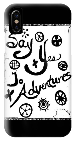 IPhone Case featuring the drawing Say Yes To Adventures by Rachel Maynard