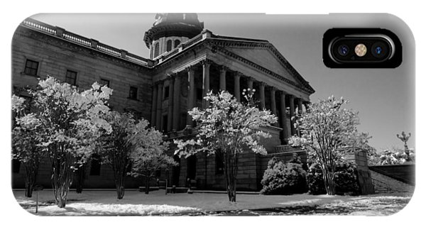 IPhone Case featuring the photograph Sc State House In Black And White 20 by Joseph C Hinson Photography