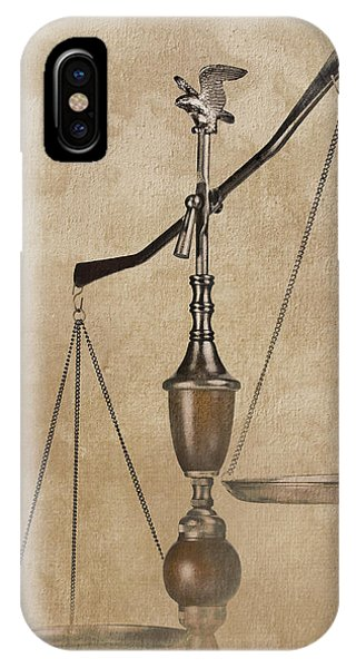 Rights iPhone Case - Scales Of Justice by Tom Mc Nemar