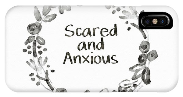 Watercolor iPhone Case - Scared And Anxious- Art By Linda Woods by Linda Woods