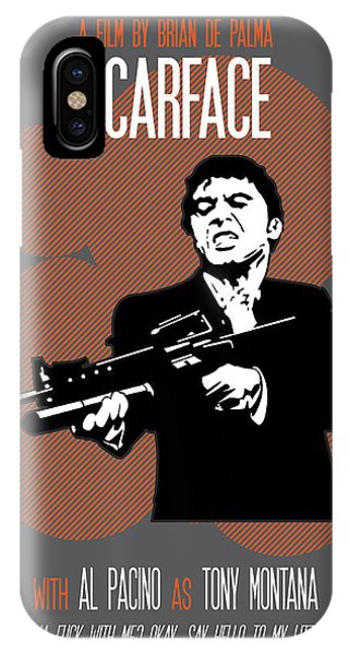 Scarface Poster Tony Montana Print Quote - Say Hello To My Little Friend IPhone Case