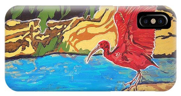 Scarlet Ibis IPhone Case