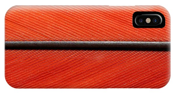 Scarlet Macaw Feather IPhone Case
