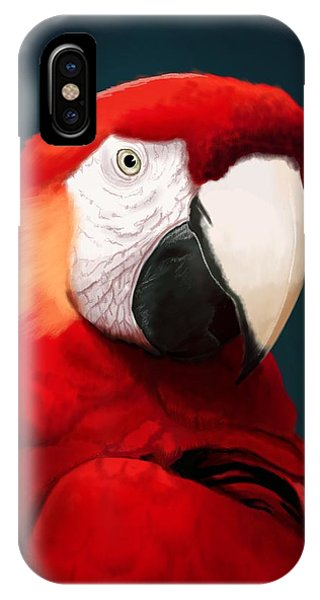Scarlet iPhone Case - Scarlet Macaw by KC Gillies