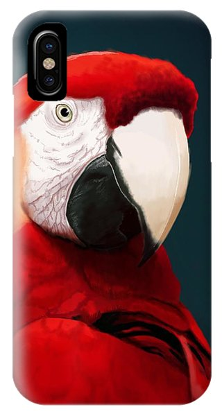 Macaw iPhone Case - Scarlet Macaw by KC Gillies