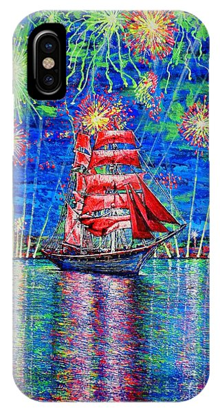 Scarlet Sail IPhone Case