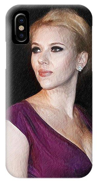 J Cole Iphone Case Scarlett Johansson Art Print By Elizabeth Simon