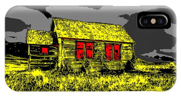 Scary Farmhouse IPhone Case