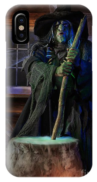 Scary Old Witch With A Cauldron IPhone Case