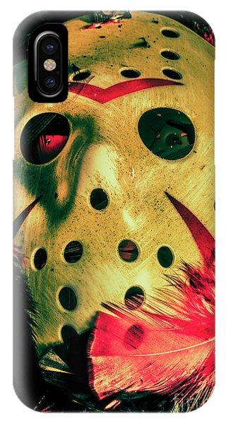 Hockey iPhone Case - Scene From A Fright Night Slasher Flick by Jorgo Photography - Wall Art Gallery