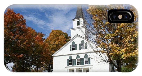 Scenic Church In Autumn IPhone Case