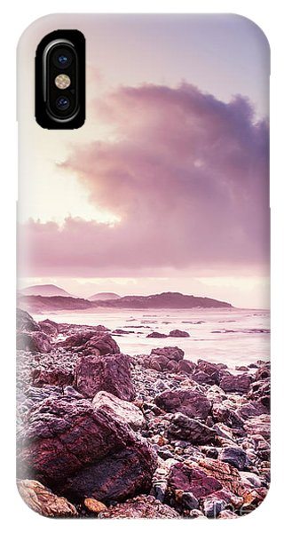 Stone Wall iPhone Case - Scenic Seaside Sunrise by Jorgo Photography - Wall Art Gallery