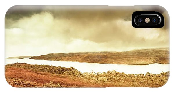 Panoramic iPhone Case - Scenic Southwest Tasmania Lakes by Jorgo Photography - Wall Art Gallery