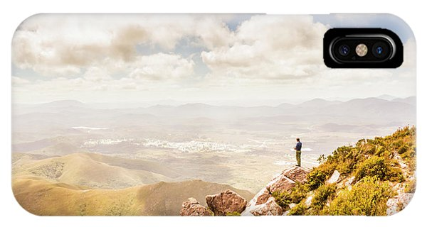 Discovery iPhone Case - Scenic View Of Mt Zeehan, Tasmania, Australia by Jorgo Photography - Wall Art Gallery
