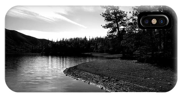 Water Ski iPhone Case - Scenic Whiskeytown Lake B And W by Joyce Dickens