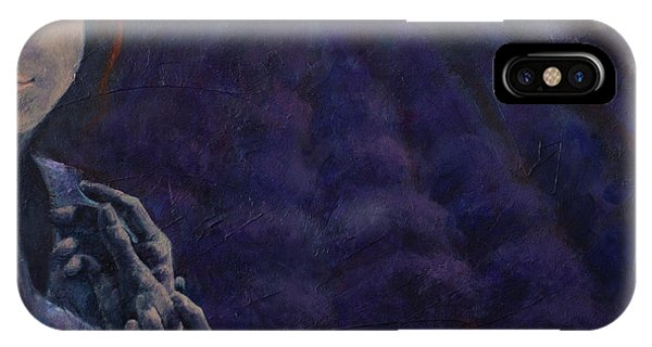 Violet iPhone Case - Scent Of Dusk In Provence by Dorina Costras