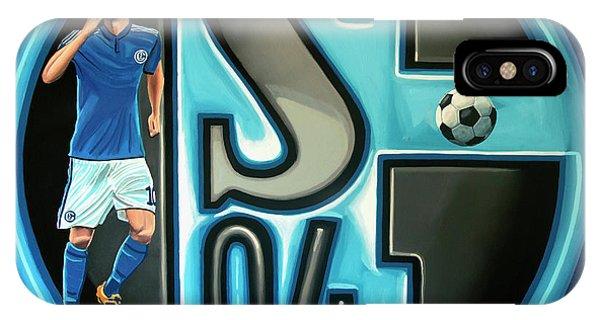 Borussia Dortmund iPhone Case - Schalke 04 Gelsenkirchen Painting by Paul Meijering