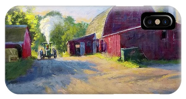 Schober's Barn At Sunset IPhone Case