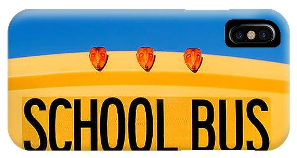 School iPhone Case - School Bus Top by Todd Klassy