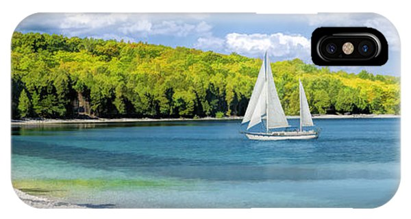 Schoolhouse Beach Panorama On Washington Island Door County IPhone Case