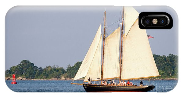 Schooner Cruise, Casco Bay, South Portland, Maine  -86696 IPhone Case