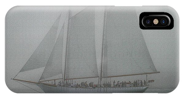 Schooner In Fog IPhone Case