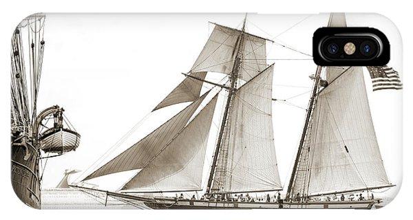 Lynx iPhone Case - Schooner Lynx Full Sail by Dustin K Ryan