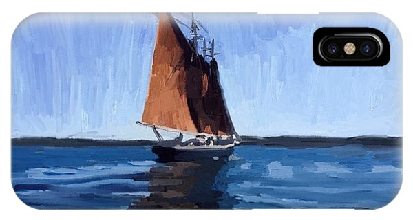 iPhone Case - Schooner Roseway In Gloucester Harbor by Melissa Abbott