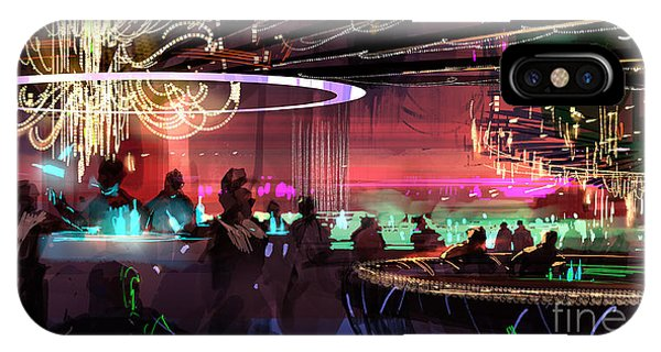Sci-fi Lounge IPhone Case