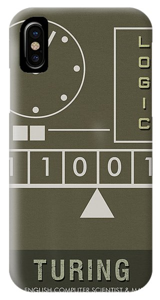 Science Posters - Alan Turing - Mathematician, Computer Scientist IPhone Case
