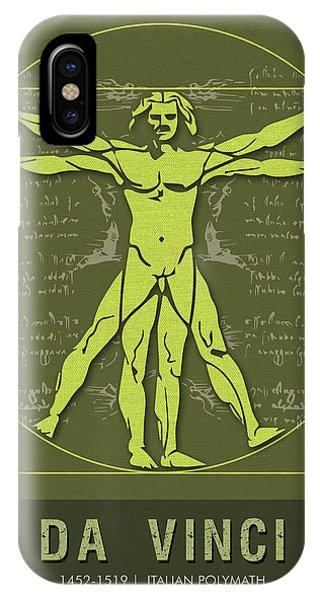 Science Posters - Leonardo Da Vinci - Artist, Inventor, Mathematician IPhone Case