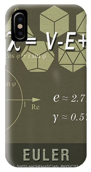 Calculus iPhone Case - Science Posters - Leonhard Euler - Mathematician, Physicist, Engineer by Studio Grafiikka