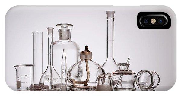 Mixed iPhone Case - Scientific Glassware by Tom Mc Nemar