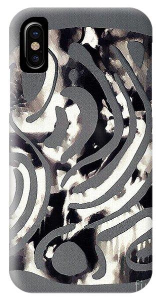 Scissor-cut Abstraction IPhone Case