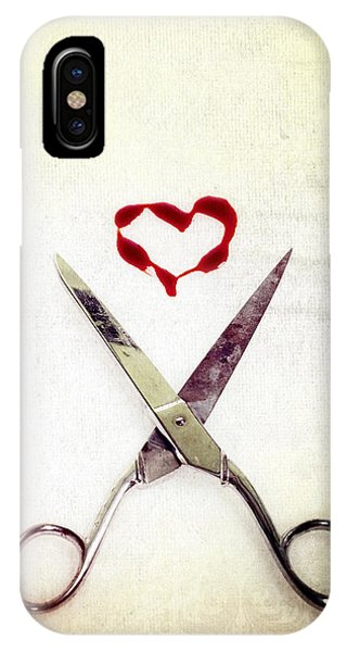 Scissors And Heart IPhone Case