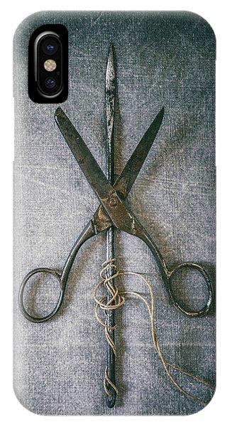 Scissors And Needle IPhone Case