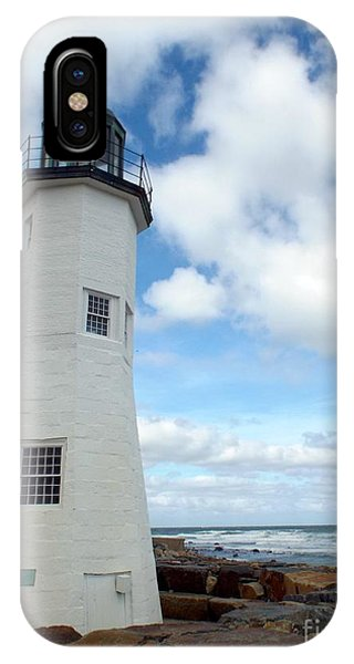 IPhone Case featuring the photograph Scituate Light by Barbara Von Pagel