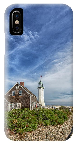 Scituate Lighthouse Boardwalk IPhone Case